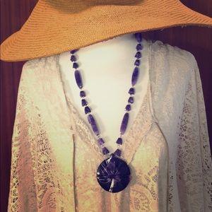 Jewelry - Vintage Purple Glass Necklace